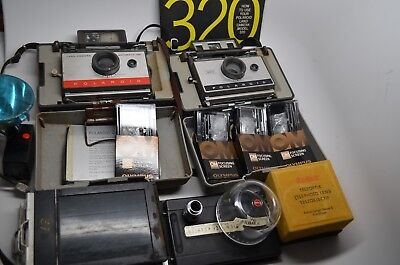 Vtg Polaroid Land Camera lot Kodak Nikon Lenses Graflex Olympus & Accessories