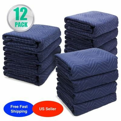Permium Pro Moving Blankets Padded Furniture Pads 12 pk 72 x 80