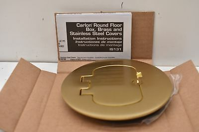 Carlon Round Floor Box, Brass and Stainless Steel Covers E97BR