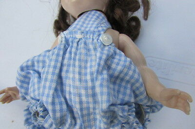 Madame Alexander Little Genius Sunsuit Blue Checked Playsuit 1950's Tagged #205