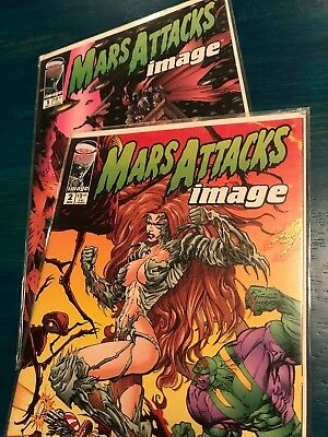 Mars Attacks Image comic book lot issues 1 and 2 Spawn Witchblade Gen 13
