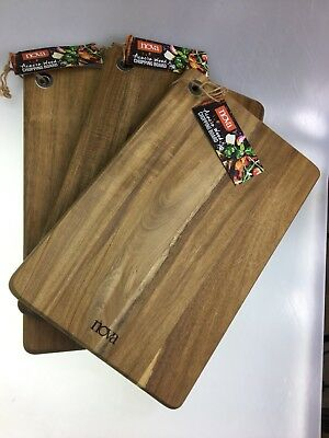 Chopping/Serving Rectangle Boards Set Of 3 High Quality Acacia Wood