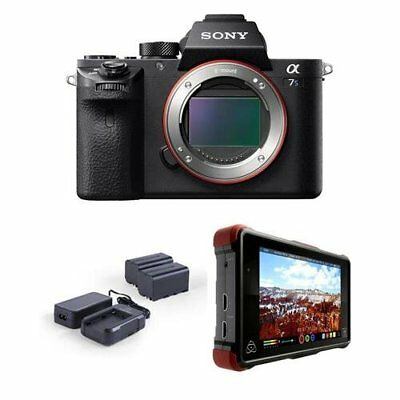 "Sony Alpha a7S II Mirrorless Digital Camera w/ 7"" Monitor Recorder & Power Kit"