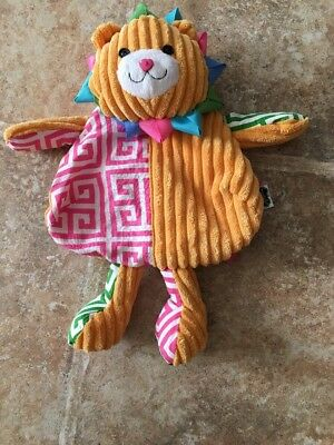 Mud Pie Lion Toddler Girls Corduroy Small Play Backpack Bag Purse Pink Yellow