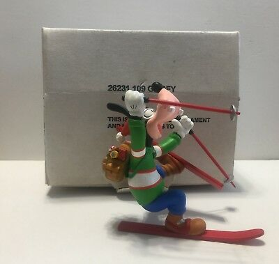 Grolier Christmas Magic Disney Ornament Goofy Skiing Mickey Mouse Collectible