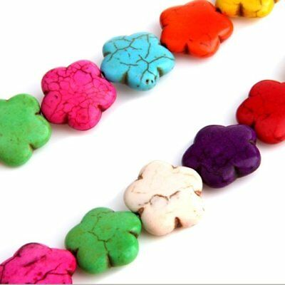 gem turquoise cabochon form flowers color assorted O1Y2
