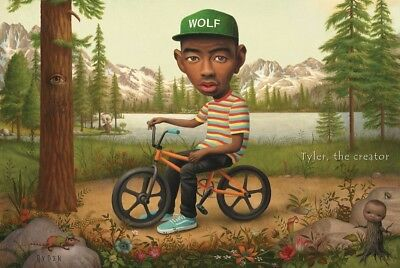 "Tyler the Creator Music Poster 24x36"" Wolf on a Bicycle 3D Poster"