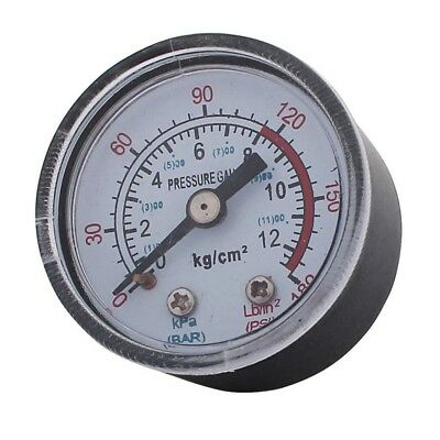 1/8ZG Male Thread 0-180PSI 1-11BAR Air Compressor Pressure Gauge - Clear/Bl T8V4
