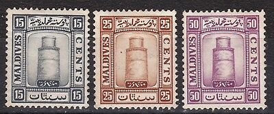 Maldives 1933 part set of 3  mint hinged