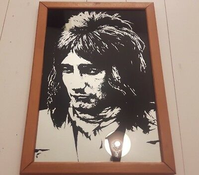 ROD STEWART Vintage 70s 80s Official Mirror The Faces Collector Frame LP Shake