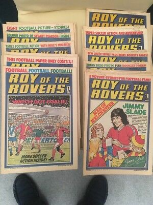 Roy Of The Rovers Complete Run 1977 + 1978 near complete