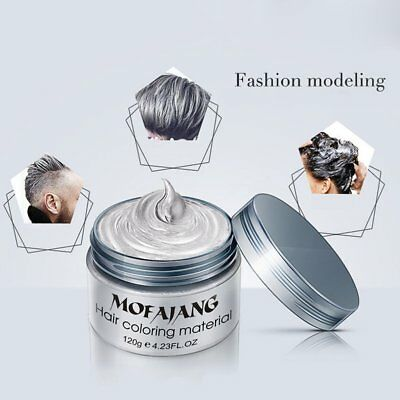 Unisex DIY Styling Hair Color Wax Mud Dye Cream Temporary Modeling Easy Wash BU