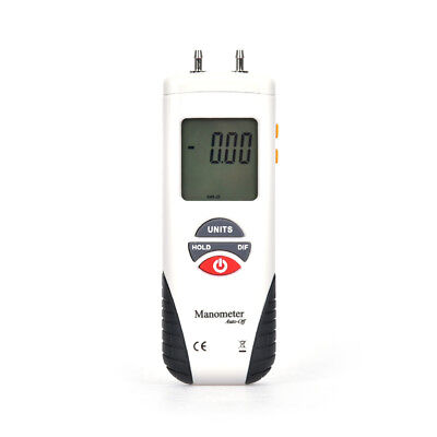 LCD Digital Manometer Differential Air Pressure Meter Gauge ±2Psi ±2000pa White