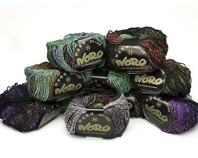 10 x 50g  Grey Mix Noro Silk Garden Lite 45% Silk - shade - 2051