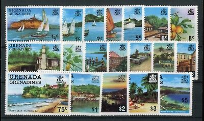 Grenada Grenadines QEII 1975 issue of 19 to $5 SG111/29 MNH