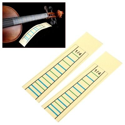 Fingerboard Fretboard Marker 2pcs Violin Practice Fiddle Finger Guide Sticker