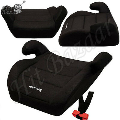 CHILD CAR SEAT Booster Youth Backless Cushion Safe No-Back Comfort Travel Black