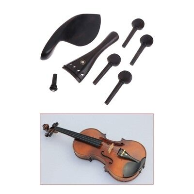 4/4 Violin String Parts Accessories Acoustic Violin Pegs Polished Ebony Fiddle