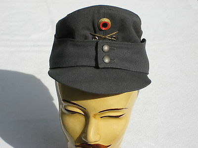 @ Early Bundeswehr dienst-u Mountain Cap, Infantry Grey with Edelweiss 1968 @