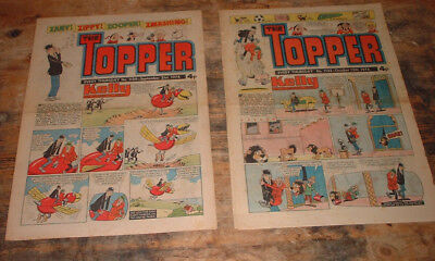 1974 THE TOPPER COMIC x 2 # 1132 & 1129