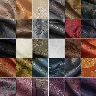 Paisley Jacquard Dress Lining Polyviscose Upholstery Fabric Material