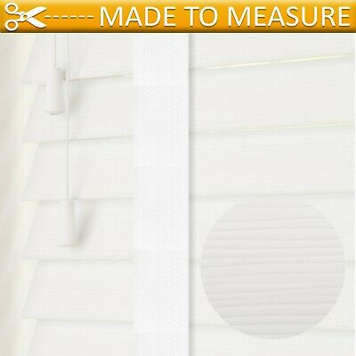 Fauxwood Venetian Blinds with Tapes - Made To Measure 50mm Grain Effect Slats