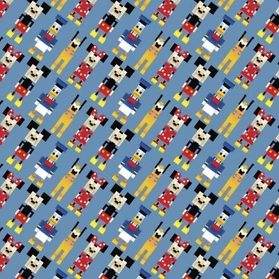 100% Cotton Patchwork Fabric Springs Creative Disney Crossy Road Characters