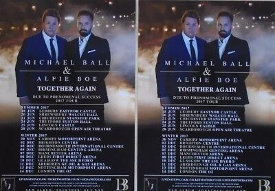 Michael Ball & Alfie Boe UK Collectible 3 x Tour Flyers 2017!