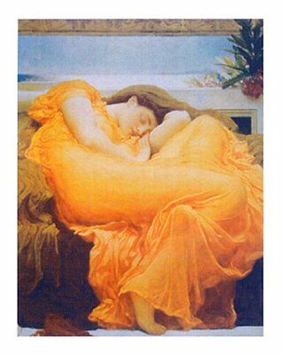Framed Art Print Flaming June by Lord Leighton Pre RaphaelitePainting 026