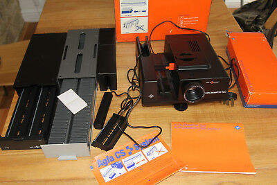Agfa Diamator 1500 Slide Projector boxed with manual & extra slide trays