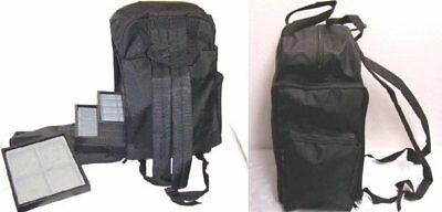 Black 1/2 Size Backpack Softside jewelry display Salesman Carry Case Holder