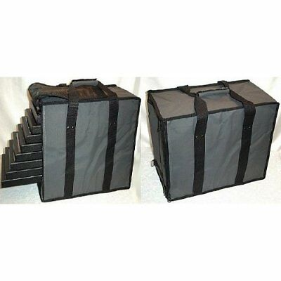 """Premium Large 19"""" Gray Jewelry Case Carrying Traveling Salesman Travel Holder"""