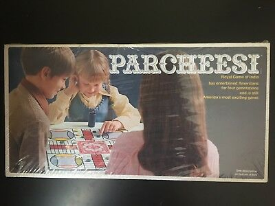 Parcheesi Royal Game Of India Board Game-1975-Vintage-Factory Sealed