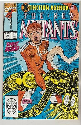 *** Marvel Comics New Mutants #95 Death Of Warlock Vf ***
