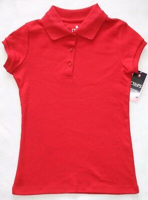 Chaps School Approved Girls Red Polo - Size 7- Small - NWT