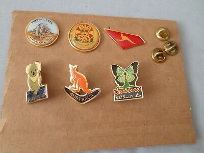 Lot Of 6 - Australia Pins - All Different