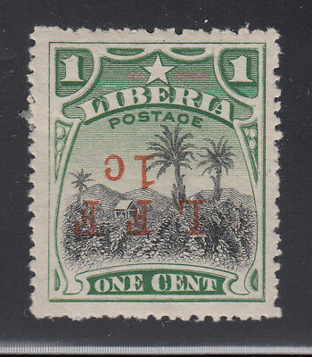 Liberia # M3 MINT UNLISTED INVERTED SURCHARGE Variety 1916 Military