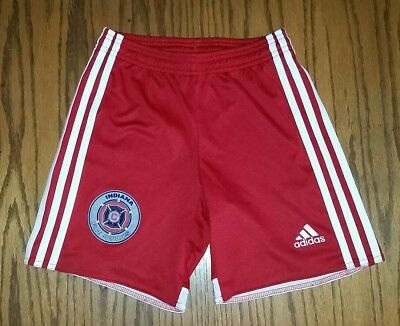 ADIDAS CLIMACOOL SHORTS YS Youth Small  RED/WHITE INDIANA FIRE JR LOGO