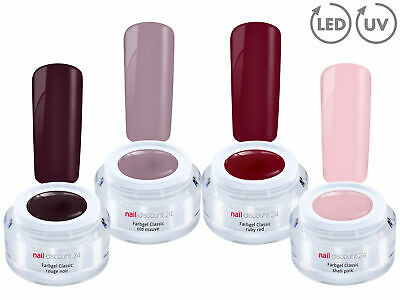 AMARENA CHERRY Collection 4x Color Farb Gel SET UV LED GEL Nail Art French Nagel
