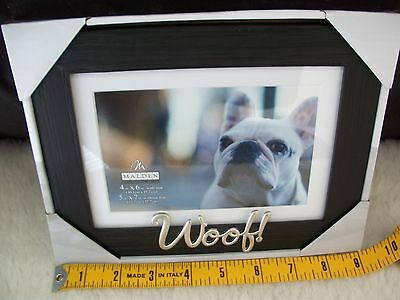 Pet Dog Picture Frame 4 x 6 or 5 x 7 Photo Woof 3D Furbaby Mans Best Friend Gift