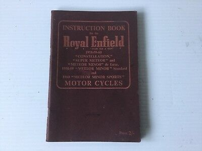 Royal Enfield Constellation And Meteor Instruction Book