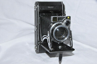 Very nice working ROYER TELEROY French folding camera with rangefinde (ca 1950)
