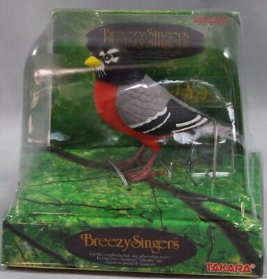 Takara Breezy Singers Robin New In Box  Bird Toy 1991 Fast Free Shipping