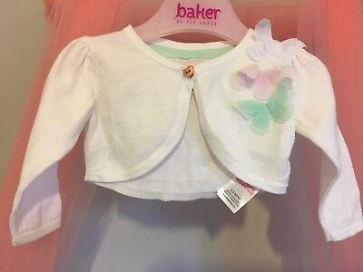Baby Girls Designer Ted Baker 3D Butterfly Long Sleeve Cardigan 0-3m💞