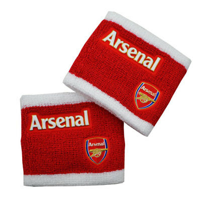 Arsenal Wristbands Sweatbands Gift Fan Red Official Licensed Football Product