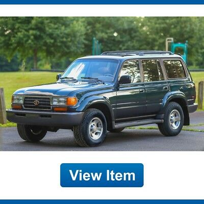 1996 Toyota Land Cruiser Base Sport Utility 4-Door 1996 Toyota Land Cruiser Diff Lock Rare Loaded 4WD 3rd Row Seat Tow FJ80 CARFAX