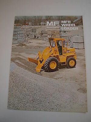 Massey-Ferguson MF 11 MF11 Front-End Wheel Loader Tractor Brochure Original '75