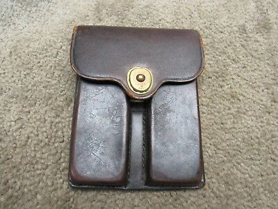 Us M1912 Leather 1911 Magazine Pouch Dated 1950 J Q M D For 45 Auto M1911 A1