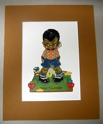 Black Americana Vintage Made In Germany Moving Eyes, Valentine, Circa 1930.