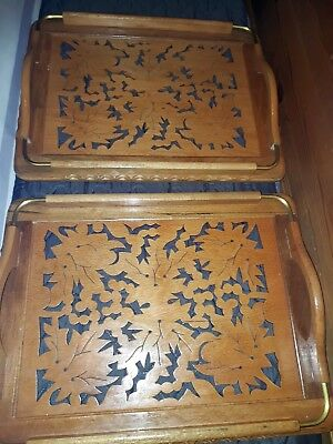 Two wooden trays